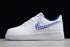 """Discover the Nike Air Force One QS """"Gingham Pack"""" White/Indigo Force AV6232-100 Copuon group at Adidasdepot.com today. Shop Nike Air Force One QS """"Gingham Pack"""" White/Indigo Force AV6232-100 Copuon black, grey, blue and more. Get the tones, gat what is coming to one the features, earn the look!"""