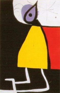 Dona en la nit, by Joan Miró
