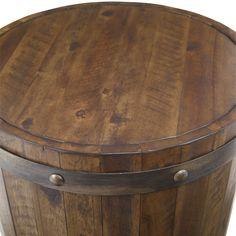 Iron Sheet, Sheet Metal, Wine Barrel Table, Sofa End Tables, Side Tables, Lodge Decor, Wood Ceilings, Handmade Furniture, Rustic Furniture