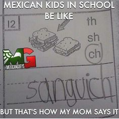 Growing up Mexican, sangwich, sandwich