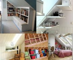 Many times the attic room is overlooked when you run out of room in your home and need more storage space. Creating well-planned attic storage will help you reduce clutter. The attic storage space depends on a home's style and when it was built.