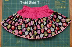The Great Umbrella Heist: Twirl Skirt Sewing Tutorial includes a great way to add ric rac to the bottom of a skirt...adorable!