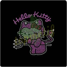 Hello Kitty Hot Fix Rhinestone Designs Pattern