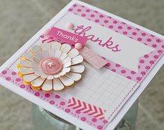Pebbles Inc: #Handmade Thank You #Cards using #PebblesBasics via DT Member @Laura Craigie
