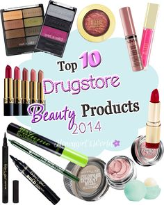 Top 10 Drugstore Beauty Products 2014 - Honeygirl's World