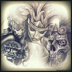 Lettrage Chicano, Chicano Art Tattoos, Chicano Drawings, Chicano Lettering, Mayan Tattoos, Mexican Art Tattoos, Evil Tattoos, Indian Tattoos, Payasa Tattoo