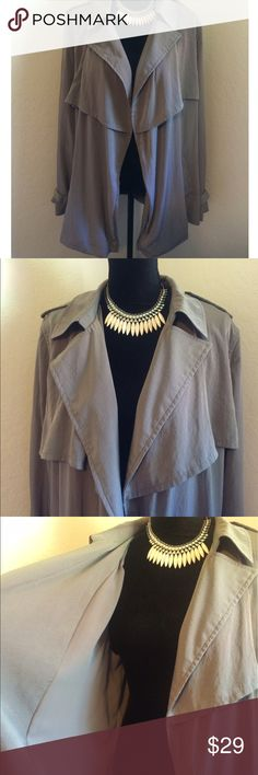 GAP Gray Waterfall Open Front Jacket Cardigan GAP women's lightweight gray open front waterfall cardigan/jacket. Size XL. 100% Polyester. Excellent Pre-Owned Condition. Interested? Like, share, bundle, buy! Thank you for visiting my closet. GAP Jackets & Coats Blazers