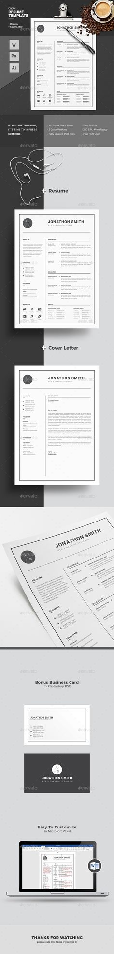 Buy Resume by Diverter on GraphicRiver. Professional Resume / CV Template with super modern and professional look. Elegant page designs are easy to use and c. Simple Resume Template, Resume Design Template, Flyer Design Templates, Cv Template, Creative Resume Templates, Creative Cv, Job Resume, Resume Ideas, Cv Inspiration