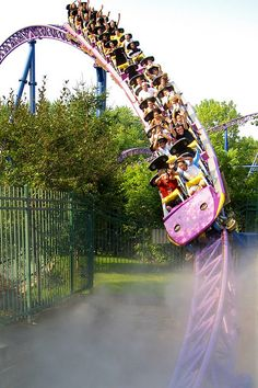 Bizarro at Six Flags New England - The best coaster on the planet in my opinion. Actually, I haven't ridden it in years, but it's my #1 pick for now. This is a CreativeCommons Photo from Flickr.