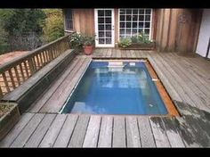 """In-ground"" hidden pool+ deck! perfect for a small yard (YouTube of construction, much nicer than pic)"