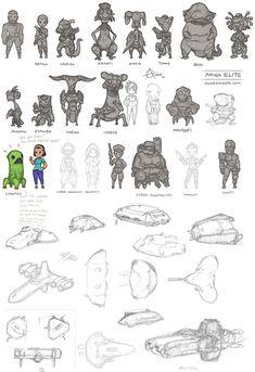 Amiga Elite Aliens art