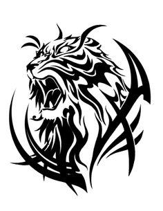 Tiger Head by Tribal Tiger Tattoo, Leo Lion Tattoos, Tiger Tattoo Design, Tribal Tattoo Designs, Body Art Tattoos, Tribal Tattoos, Sleeve Tattoos, Tiger Claw Tattoo, Tribal Drawings