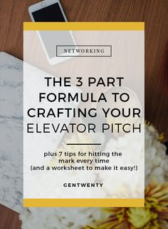 how to write a 30 second elevator pitch