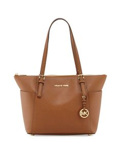 Jet Set Top-Zip Saffiano Tote Bag, Luggage by MICHAEL Michael Kors at Neiman Marcus.