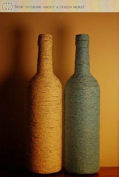 String wine bottle