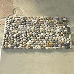 Multi-Color River Stone Mat | vivaterra