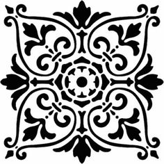 APS1012 Florentine Tile  Small by StencilledGarden on Etsy, $23.95