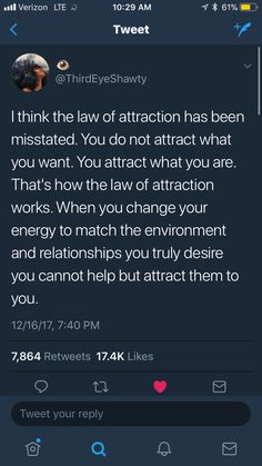 true law of attraction Real Talk Quotes, Fact Quotes, Mood Quotes, Quotes To Live By, Life Quotes, Positive Affirmations, Positive Quotes, Motivational Quotes, Inspirational Quotes