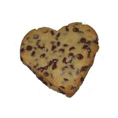 Heart Shaped Chocolate Chip Cookies ❤ liked on Polyvore featuring food, food and drink und filler