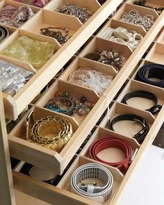 Ideas Master Closet Drawers Decor For 2019 Closet Storage, Bedroom Storage, Closet Organization, Makeup Organization, Makeup Storage, Makeup Shelves, Belt Storage, Master Bedroom Closet, Bedroom Wardrobe