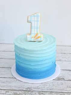 Birthday cake number one blue ideas - Cake Decorating Blue Ideen Blue Birthday Cakes, Boys First Birthday Cake, Birthday Ideas, Number One Cake, Birthday Cake Decorating, Cakes For Boys, Cakes For Baby Boy, Cake Smash, Party Cakes