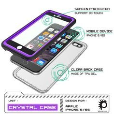 iPhone 6S+ PLUS/6+ PLUS  Waterproof Case, PUNKcase CRYSTAL Purple Apple iPhone 6S+ PLUS/6+ PLUS  Waterproof Case W/ Attached Screen Protector | Lifetime Exchange Warranty The PUNKcase CRYSTAL case is your ultimate protection against what you or nature can offer. IP68 certified! The CRYSTAL case is Waterproof, Dust Proof, Snow Proof, Drop Proof, Shockproof and it has a HD clear scratch resistant screen guard to complete the protection. The package includes a lanyard. Easy access to all…