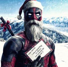 Another Deadpool Christmas Deadpool Fan Art, Deadpool Funny, Deadpool Stuff, Deadpool Wallpaper, Marvel Wallpaper, Hulk Marvel, Marvel Heroes, Deadpool Christmas, Marvel Entertainment