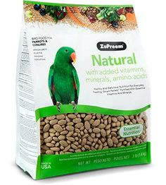 ZuPreem Natural Parrots & Conures Bird Food 3 lbs