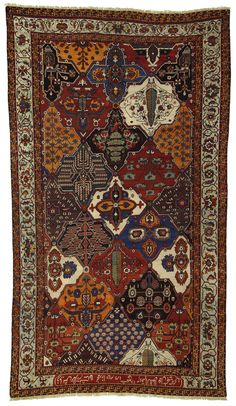 A beautiful example with an inscription! We are finally seeing good Bakhtiari's getting the recognition that they deserve! One of our favorite types of rugs here at Rug Curator, we are proud to offer