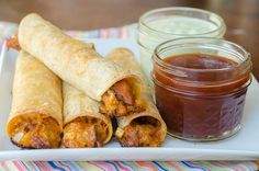 Baked BBQ Taquitos
