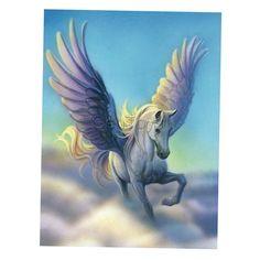 Verisimilar Clear Faux 5D Diamond Painting Pegasus Fly Horse Home Decor 26A