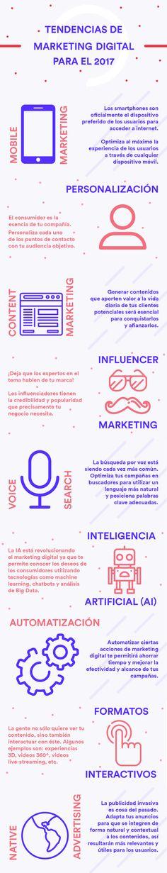 Tendencias en Marketing Digital #infografia #infographic #marketing - TICs y Formación