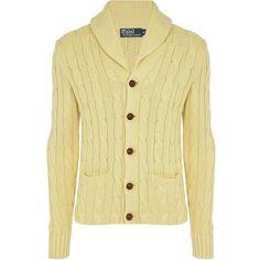 Polo Ralph Lauren Shawl Collar Cardigan ($580) via Polyvore