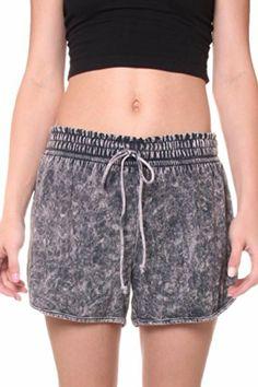 Cemi Ceri Womens Jersey Mineral Wash Elastic Waist Short $22