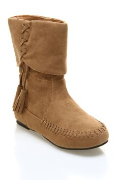 {Suede Bootie With Tassels}