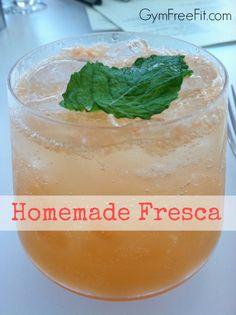Homemade Fresca Recipe – www.GymFreeFit.com #recipe #healthyliving