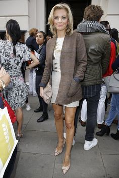 Pin for Later: See All the Celebrities at London Fashion Week Rachel Riley Julien Macdonald hasn't forgotten his Strictly Come Dancing costars. Not only was Rachel in the front row at his show . . .