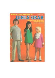 Enid Gilchrist Girls' Gear Dresses, Shifts, Pantsuits Years Sewing Pattern Book, 55 pages Vintage Patterns, Sewing Patterns, Book Costumes, Pattern Books, Unique Vintage, Gears, Knitting, Children, Tricot