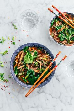 Shiitake and Spinach Miso Soup - an easy, vegan soup that can be made in less than 45 minutes!