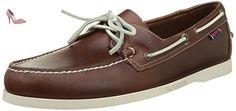 Sebago Docksides, Chaussures Bateau Homme, Marron (Brown Oiled Waxy Lea), 50 EU - Chaussures sebago (*Partner-Link)