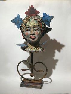 Ceramic Sculptures, Suzy, Figurative, Bookends, Buddha, Ceramics, Statue, Decor, Art