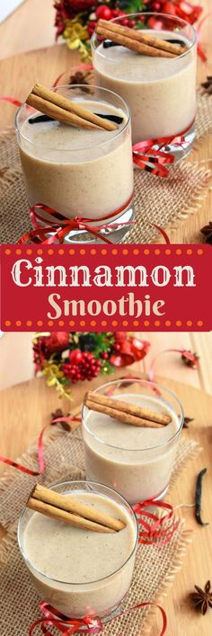 Holiday Cinnamon Smoothies - All the flavors of the holidays in one healthy drink