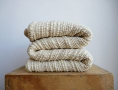 Hey, I found this really awesome Etsy listing at https://www.etsy.com/listing/261308247/chunky-knit-blanket-textured-off-white