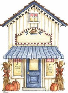 This would be really cute for a card embellishment, or a jar label for a gift! Scentsy, Illustrator, House Quilts, Cute Clipart, Christmas Drawing, Paper Houses, 3d Prints, Vintage Diy, House Drawing