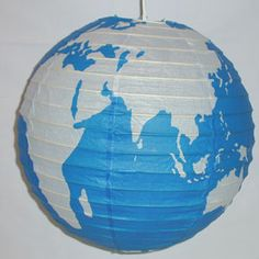 THIS might be amazing for our reception... I am thinking tiny toy airplanes/birds, spray painted gold or silver and connected to a thin gold or silver wire, swirling around the outside of the globe. A truly unique centerpiece :)
