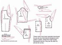 Sewing Techniques Using a French Curve / Design Ruler - For drawing pattern curves. Sewing Basics, Sewing Hacks, Sewing Tutorials, Sewing Crafts, Sewing Projects, Sewing Patterns, Techniques Couture, Sewing Techniques, Sewing Alterations