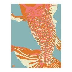 Fishclose Wall Art in Sea