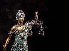 Photography of bronze themis sculpture, femida or justice goddess on dark background stock image Justice Scale, Dark Backgrounds, Crime, Tattoo Ideas, Bronze, Stock Photos, Sculpture, Statue, Tattoos