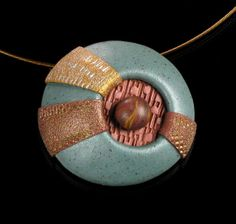 Modern Art Jewelry - Polymer Clay Necklace  Statement Necklace  by mindfulmatters, $24.00