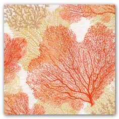Coral Sea Fans Luncheon Napkins